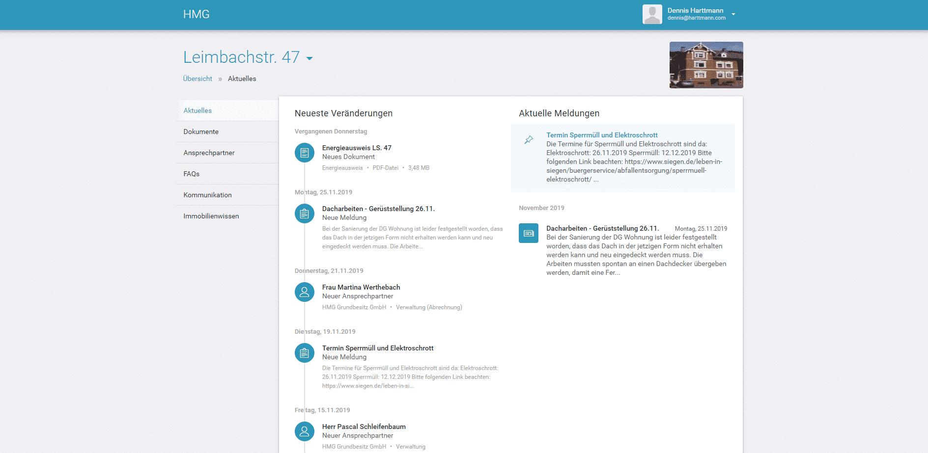 Übersicht Portal